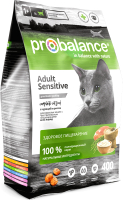 Корм для кошек ProBalance Sensitive с курицей и рисом (400г) -
