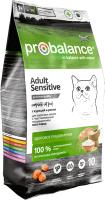 Корм для кошек ProBalance Sensitive с курицей и рисом (10кг) -