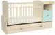 Детская кровать-трансформер Альма-Няня Соната (береза/бирюзовый) -