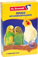 Корм для птиц Dr.Hvostoff Просо витаминизированное с семенами льна (500г) -