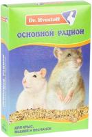 Корм для грызунов Dr.Hvostoff Основной рацион для крыс, мышей и песчанок (600мл) -