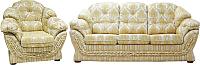 Комплект мягкой мебели Домовой Романтика-1 3Mst+1+1 (Degas 5929 A1-09/Degas 5929 C1-09) -