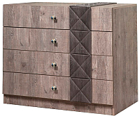 Комод Мебель-КМК 4Я Монако 0673.1 (сосна натуральная/дуб шато) -