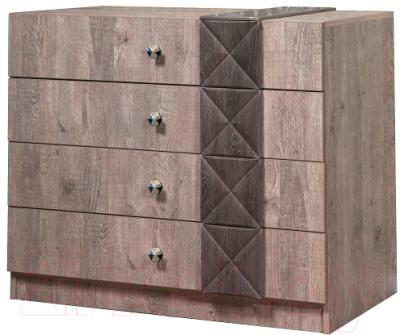 Комод Мебель-КМК 4Я Монако 0673.1 (сосна натуральная/дуб шато)