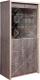 Шкаф с витриной Мебель-КМК 2Д Монако 0673.5 (сосна натуральная/дуб шато) -