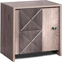 Тумба Мебель-КМК 1Д Монако 0673.11 (сосна натуральная/дуб шато) -