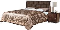 Двуспальная кровать Мебель-КМК 1600 Монтана 1 0675.8 (дуб вотан/дуб портовый) -