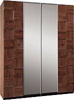 Шкаф Мебель-КМК 4Д Монтана 0675.5 (дуб вотан/дуб портовый) -