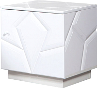 Тумба Мебель-КМК Кензо 0674.8 (белый/белый глянец) -