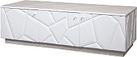 Тумба Мебель-КМК 3Д Кензо 0674.10 (белый/белый глянец) -