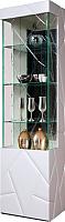 Шкаф-пенал с витриной Мебель-КМК Кензо 0674.12 левый (белый/белый глянец) -