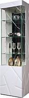 Шкаф-пенал с витриной Мебель-КМК Кензо 0674.13 правый (белый/белый глянец) -