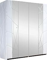 Шкаф Мебель-КМК Кензо 0674.14 (белый/белый глянец) -