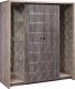 Шкаф с витриной Мебель-КМК 4Д Монако 0673.12 (сосна натуральная/дуб шато) -