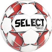 Футбольный мяч Select Brillant Replica /811608-003 (размер 4, белый/красный/серый) -