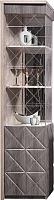 Шкаф-пенал с витриной Мебель-КМК Монако 0673.7 правая (сосна натуральная/дуб шато) -