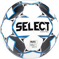 Футбольный мяч Select Contra IMS / 812310-102 (размер 5, белый/черный/синий) -