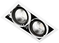Точечный светильник Ambrella T812 BK/CH 2*12W 4200K -