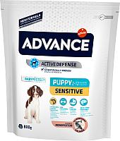 Корм для собак Advance Puppy Sensitive с лососем и рисом (800г) -