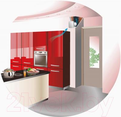 Вентилятор вытяжной Vents 125 ЛД - Пример монтажа