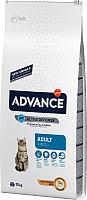 Корм для кошек Advance Adult с курицей и рисом (15кг) -