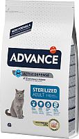 Корм для кошек Advance Sterilized с индейкой (15кг) -