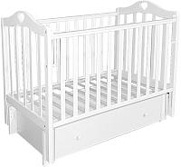 Детская кроватка Антел Каролина-4/6 (белый) -