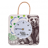 Термометр для бани Банная забава Медведь / 2798003 -