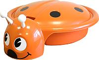 Песочница-бассейн Пластик Божья коровка (оранжевый) -