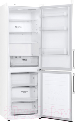 Холодильник с морозильником LG GA-B459BQKL
