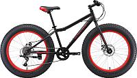 Велосипед Black One Monster 24 D 2019 (черный/вишневый) -