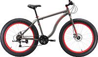 Велосипед Black One Monster 26 D 2019 (18, серый/вишневый) -