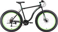 Велосипед Black One Monster 26 D 2018 (18, черный/зеленый) -
