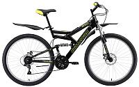 Велосипед Challenger Genesis Lux FS 26 D 2019 (20, черный/зеленый/серый) -