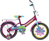 Детский велосипед Black Aqua Lady KG1615 со светящимися колесиками (фиолетовый/бирюзовый) -