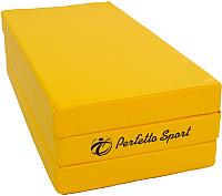 Гимнастический мат Perfetto Sport Складной №4 1x1.5x0.1м (желтый) -
