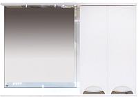 Шкаф с зеркалом для ванной Misty Куба-120 R / П-Куб-01120-011П -