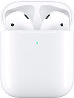 Наушники-гарнитура Apple AirPods 2 / MRXJ2 (в футляре с возможностью беспроводной зарядки) -