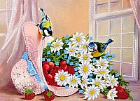 Набор для вышивания Наследие Птички у нежного букета / НЛ3-011 -