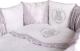 Комплект в кроватку Lappetti Sweet Teddy / 6052/0 (белый/серый) -