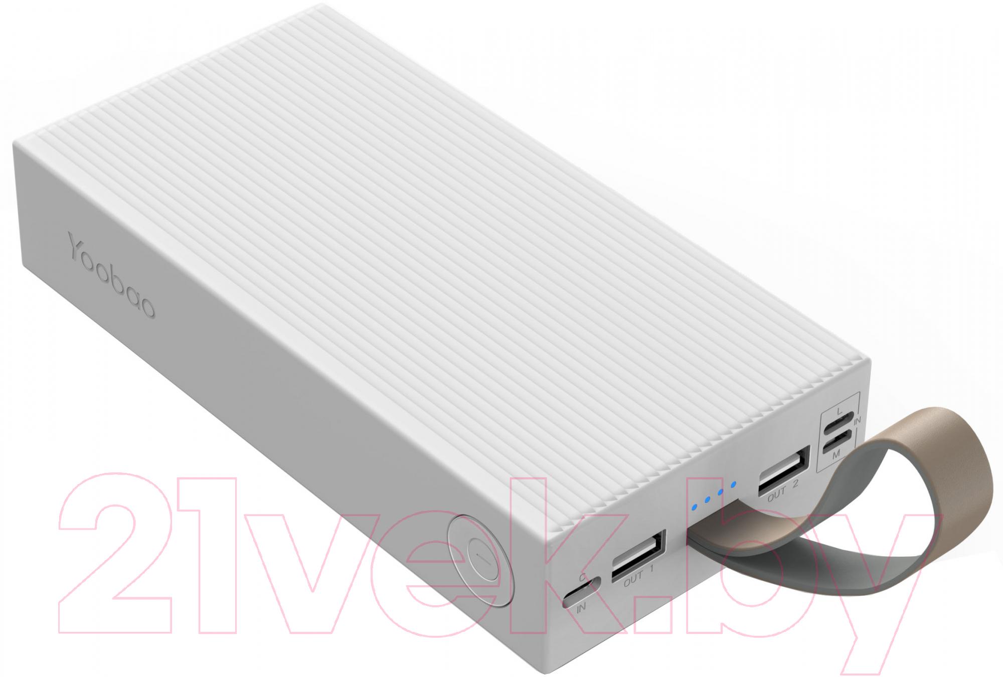 Купить Портативное зарядное устройство Yoobao, Power Bank 30E (30000 мАч, белый), Китай