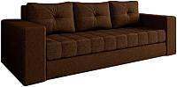 Диван Настоящая мебель Константин рогожка (коричневый) -