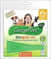 Капли от блох GreenFort БиоКапли для кошек, кроликов и собак / G201 -