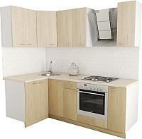 Готовая кухня Хоум Лайн Луиза Люкс 1.2x2.2 (флитвуд шампань/флитвуд белый) -