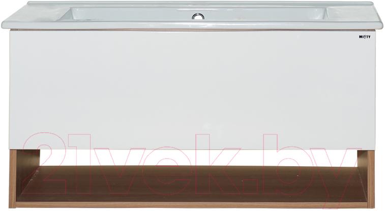 Купить Тумба под умывальник Misty, Невада 105 / П-Нев01105-011 (подвесная), Россия