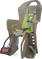 Детское велокресло Polisport Koolah FFS / 8631400027 (коричневый/зеленый) -