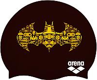 Шапочка для плавания ARENA Super Hero Cap Jr 001533503 (черный/желтый/бэтмен) -
