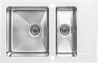 Мойка кухонная ZorG GS 7850-2 (белый) -
