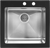 Мойка кухонная ZorG GS 5553 (черный) -