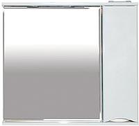 Шкаф с зеркалом для ванной Misty Элвис 85 / П-Элв-01085-011П -